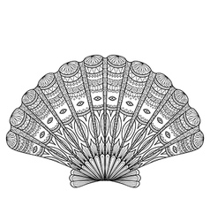Seashell coloring vector image