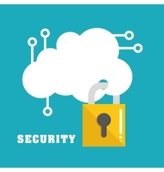 Security system and technology vector image