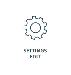 Settings edit line icon linear concept vector
