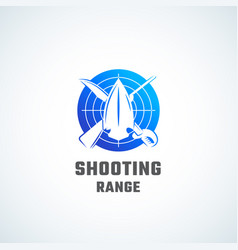 Shooting range abstract icon symbol or vector