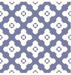 simple geometric floral seamless retro pattern vector image