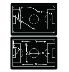 Soccer match infographic elements Flat design vector image