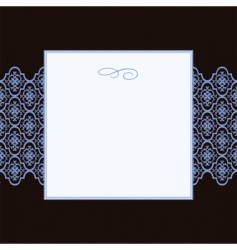 square pattern and frame vector image