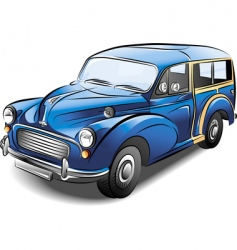 Station wagon car vector