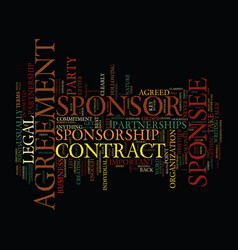 The legal side of sponsorship text background vector