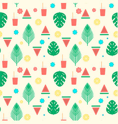 Tropical cocktail seamless pattern vector