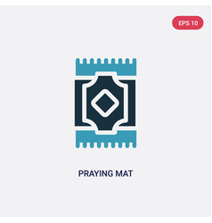 Two color praying mat icon from religion concept vector