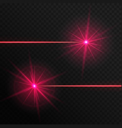 Two red laser beams vector