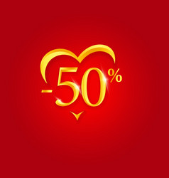 valentines day sale poster holiday discount vector image