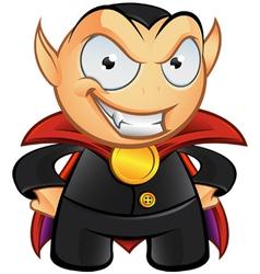 Vampire Mascot Evil Smile vector
