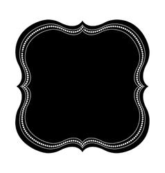 Vintage frame icon vector