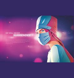 we will never surrender vector image