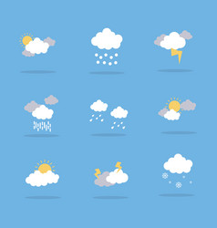 Weather icon flat vector