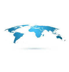 world map isolated on white background in blue vector image