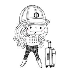 Little girl vector image vector image