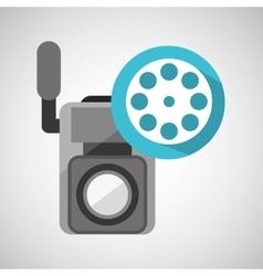 Movie video camera film reel icon vector