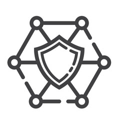 network protection line icon seo and development vector image