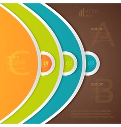 Abstract elements of infographics vector image