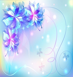 beautiful abstract background with flowers vector image vector image