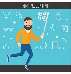 Finding Content Concept vector image vector image