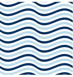 simple seamless pattern with wave blue stripes vector image vector image