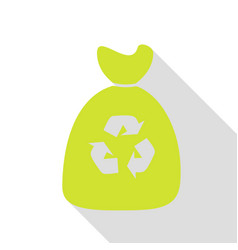 trash bag icon pear icon with flat style shadow vector image vector image