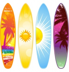 tropical surfboard vector image vector image