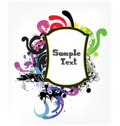 abstract frame vector image vector image