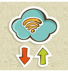 Cloud computing cartoon concept vector image vector image
