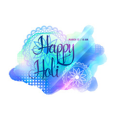 creative watercolorful holi festival background vector image vector image