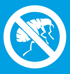 etching insect icon white vector image vector image