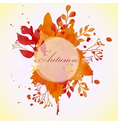 Floral autumn concept of circle frame vector image vector image