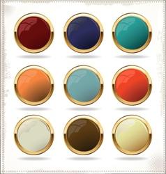 golden blank badges vector image