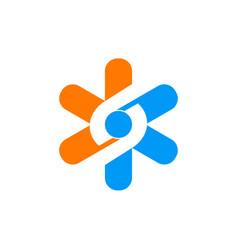 star tecnology circle logo vector image