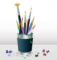 art supplies vector image vector image