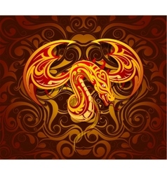 Dragon as symbol for year 2024 vector image