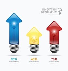 Infographic abstract lightbulb arrow template vector image vector image