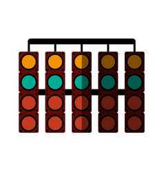 racer traffic light flat shadow vector image