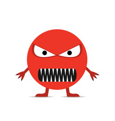 Red angry smiley face vector
