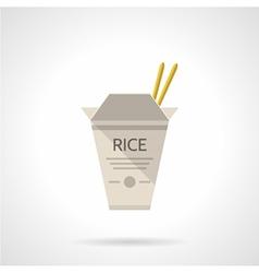Rice box flat icon vector image vector image