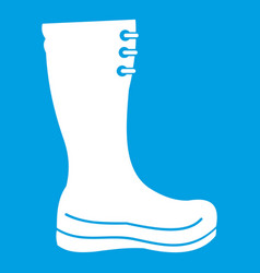 rubber boots icon white vector image vector image