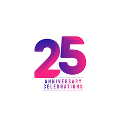 25 years anniversary celebrations template design vector