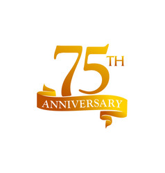 75 year ribbon anniversary vector image