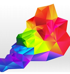 Abstract background colorful triangle polygonal vector