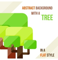 Abstract background with a tree vector