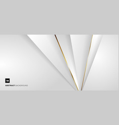 abstract banner web template white and gray vector image