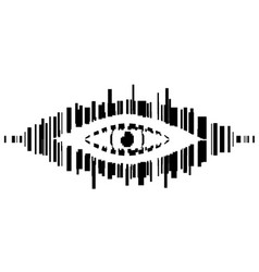 Barcode eye stencil vector