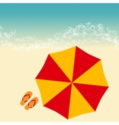 beach summer vector image