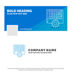 Blue business logo template for event management vector