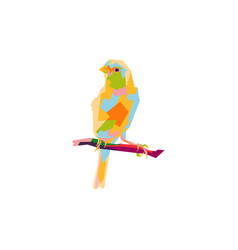 canary bird pop art vector image